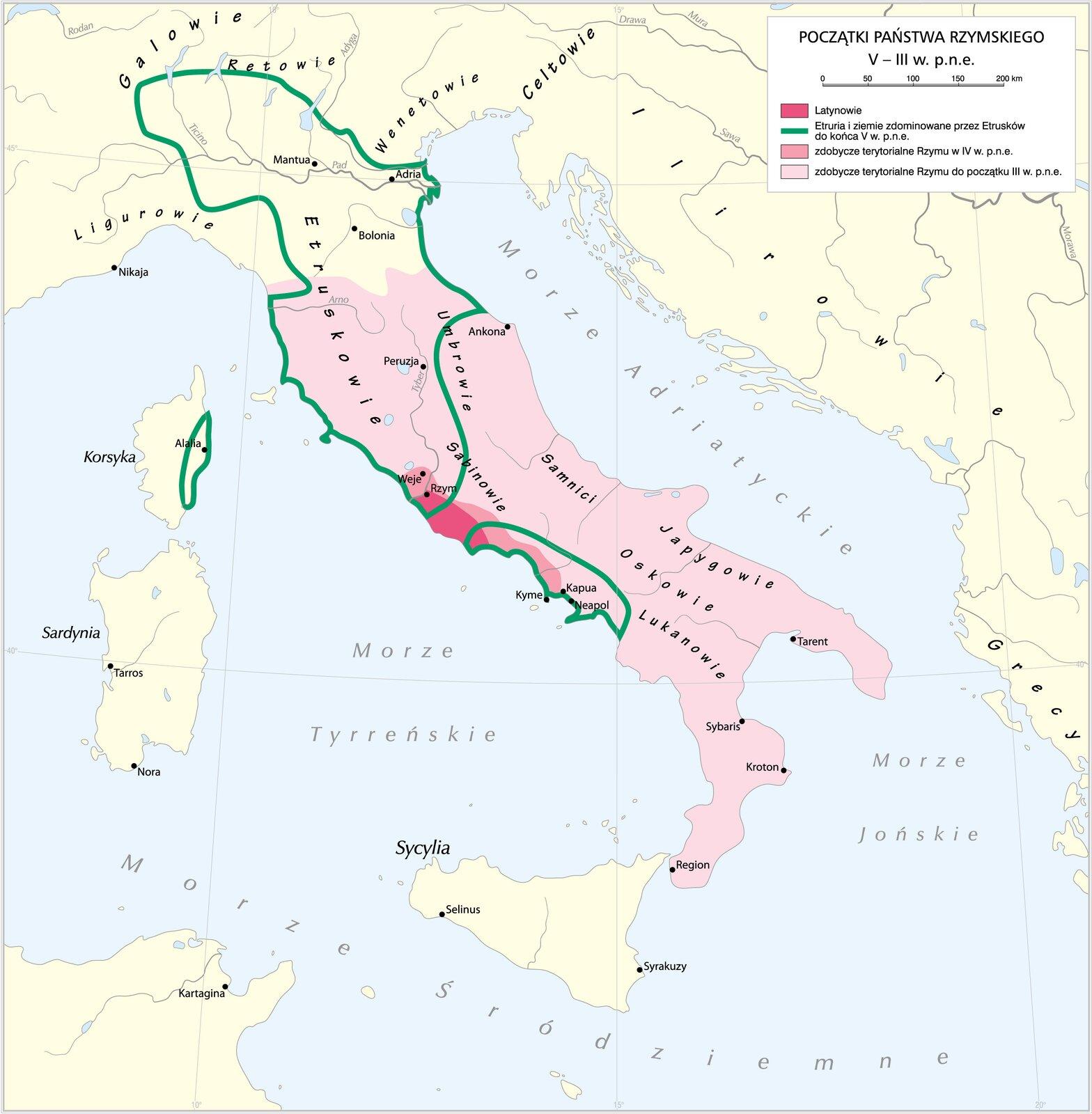Początki państwa rzymskiego Początki państwa rzymskiego Źródło: Krystian Chariza izespół, licencja: CC BY 3.0.