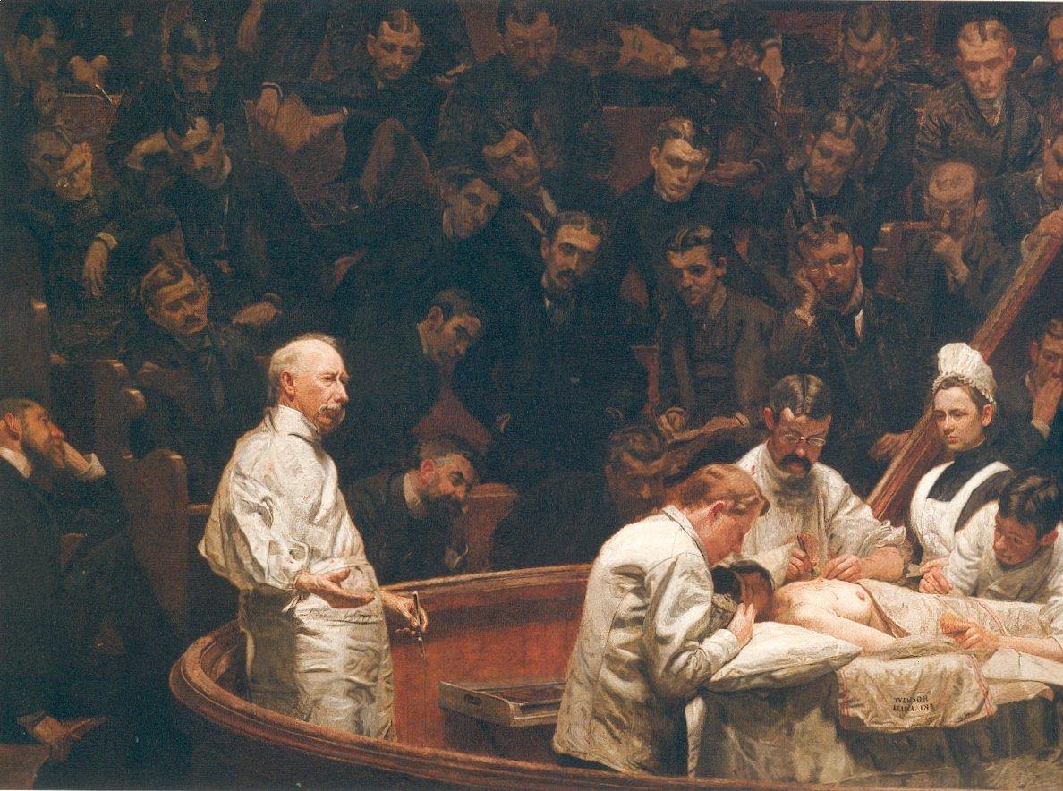 Klinika doktora Agnew Źródło: Thomas Eakins, Klinika doktora Agnew, 1889, domena publiczna.