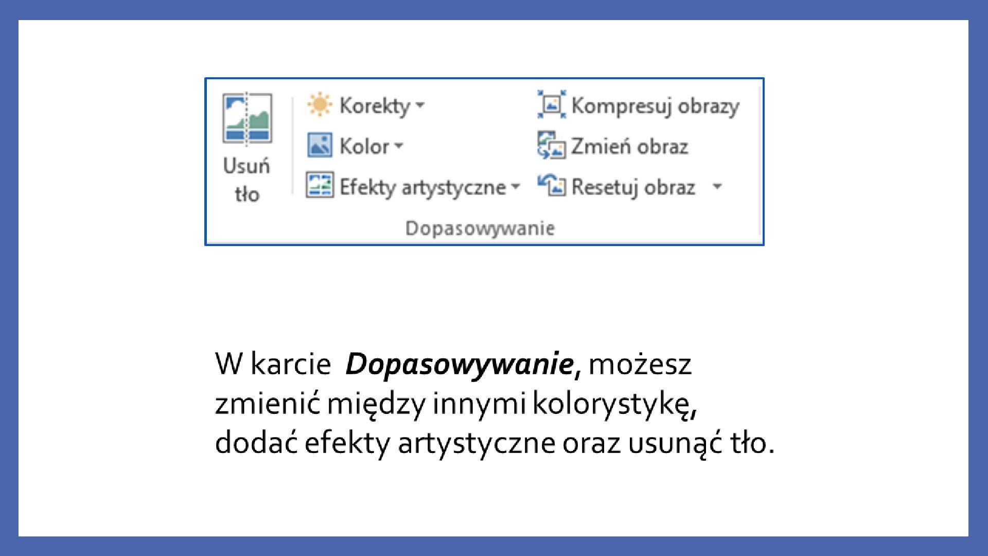 Slajd 9 galerii zrzutów slajdów: Modyfikacja obiektów wprogramie MS PowerPoint
