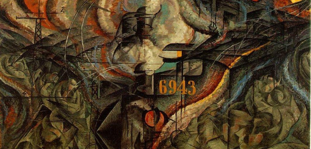 Stany umysłu II: Pożegnania (fragment) Źródło: Umberto Boccioni, Stany umysłu II: Pożegnania (fragment), 1911.