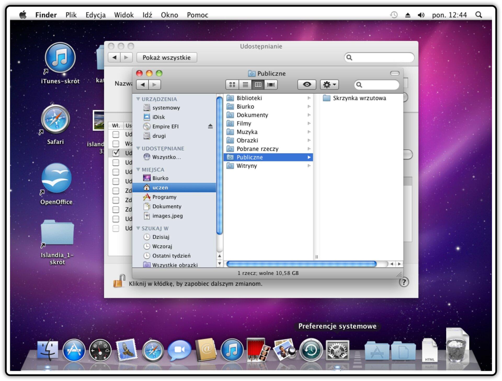 Ilustracja przedstawiająca: Krok 8 udostępniania plików wsystemie Mac OS X