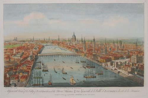 Panorama Londynu Źródło: T. Bowles, Panorama Londynu, domena publiczna.