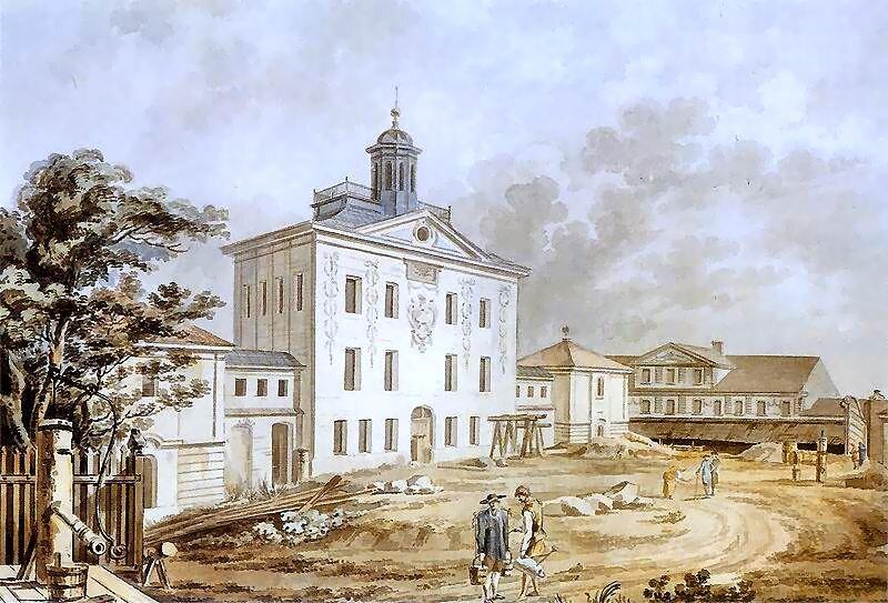 Biblioteka Załuskich Źródło: Zygmunt Vogel, Biblioteka Załuskich, 1801, Akwarele na papierze, Muzeum Narodowe wWarszawie, domena publiczna.