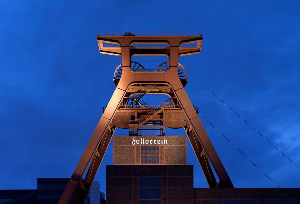 Na zdjęciu wieża kopalni węgla kamiennego.