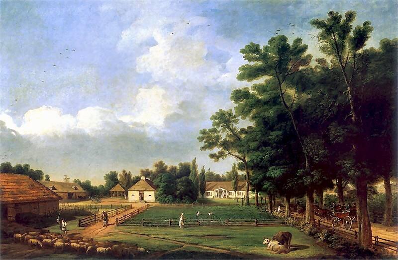 Przyjazd gości Źródło: Marcin Zaleski, Przyjazd gości, 1839, olej na płótnie, Muzeum Narodowe wWarszawie, domena publiczna.