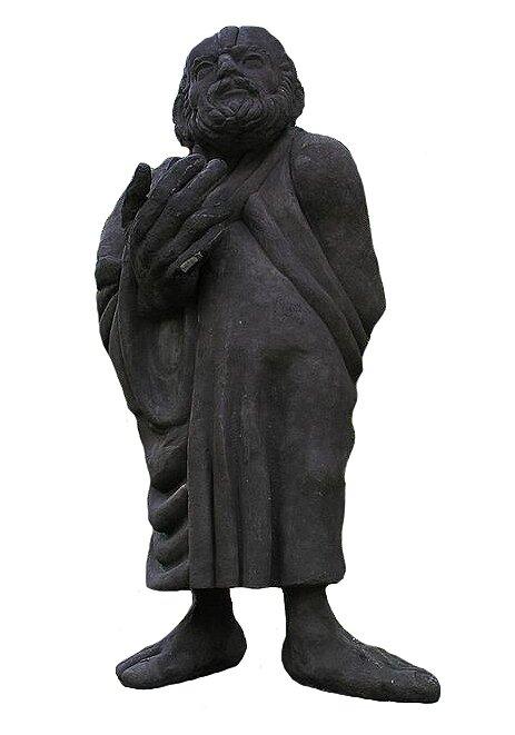 Pomnik Sokratesa nad Odrą we Wrocławiu Pomnik Sokratesa nad Odrą we Wrocławiu Źródło: licencja: CC BY 3.0.