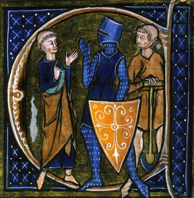 Średniowieczna iluminacja ukazująca trzy stany: duchowieństwo, rycerstwo ichłopstwo Średniowieczna iluminacja ukazująca trzy stany: duchowieństwo, rycerstwo ichłopstwo Źródło: XIII wiek, domena publiczna.