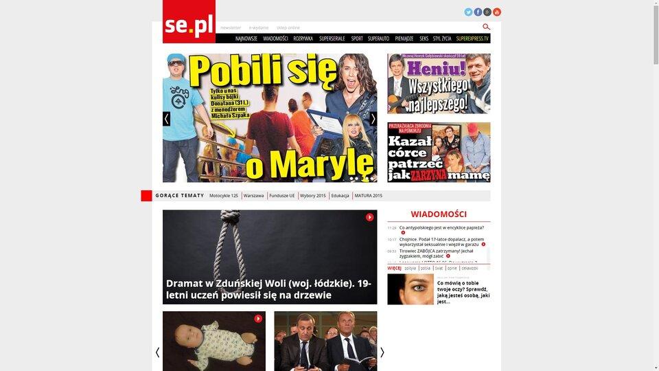 Zrzut ekranu ze strony www.se.pl