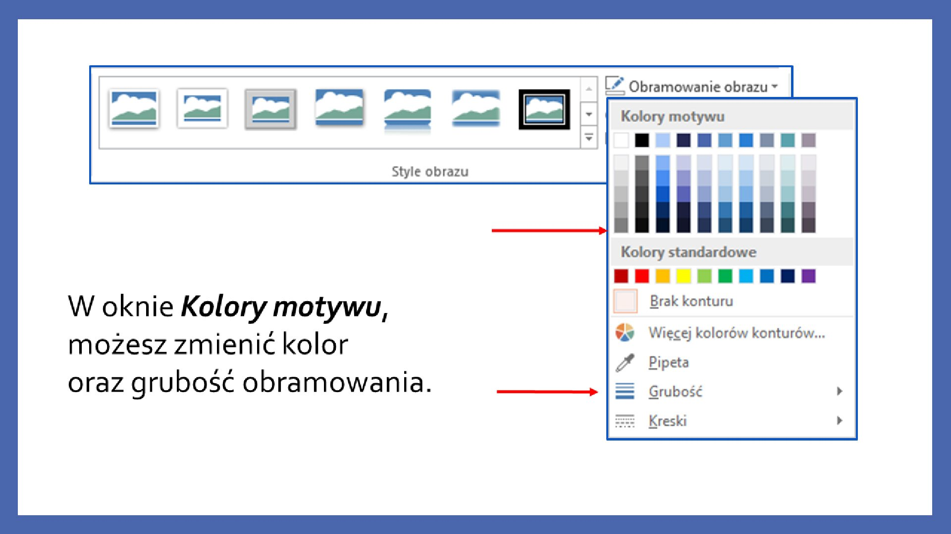 Slajd 4 galerii zrzutów slajdów: Modyfikacja obiektów wprogramie MS PowerPoint