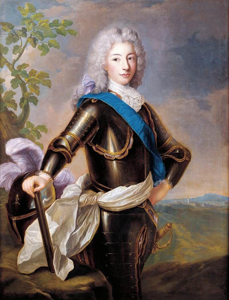 Ludwik Franciszek z(dynastii) Burbonów, książę Conti Źródło: Alexis Simon Belle, Ludwik Franciszek z(dynastii) Burbonów, książę Conti , pierwsza połowa XVIII wieku, olej na płótnie, zbiory prywatne, domena publiczna.