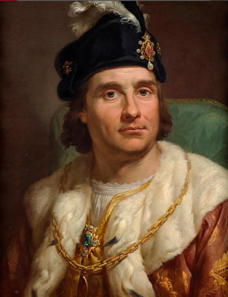 Jan Olbracht Portret Jana Olbrachta. Źródło: Marcello Bacciarelli, Jan Olbracht, 1768-1771, olej, blacha miedziana, Zamek Królewski wWarszawie – Muzeum, domena publiczna.