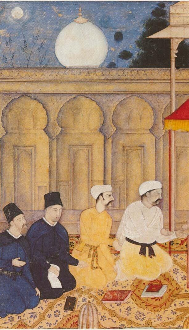 Jezuici przed władcą Indii Źródło: Jezuici przed władcą Indii, 1605.