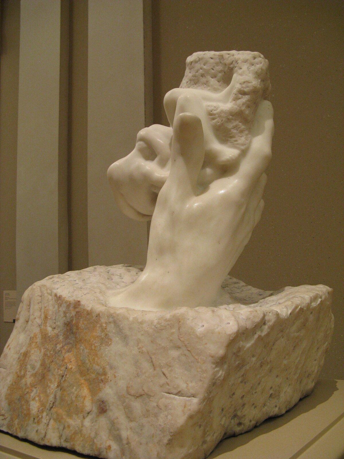 Ręka Boga Źródło: Auguste Rodin, Ręka Boga, 1917, rzeźba wmarmurze, domena publiczna.