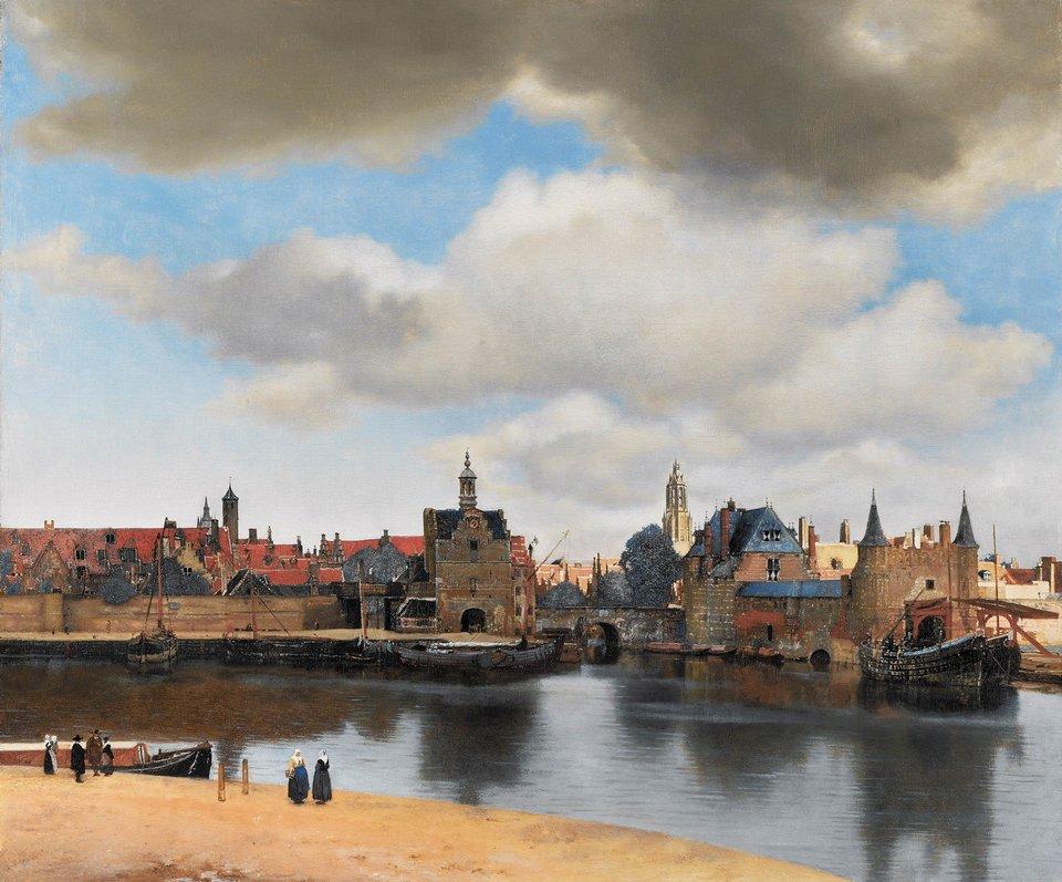 Widok Delft Źródło: Jan Vermeer, Widok Delft, 1660–1661, olej na płótnie, domena publiczna.
