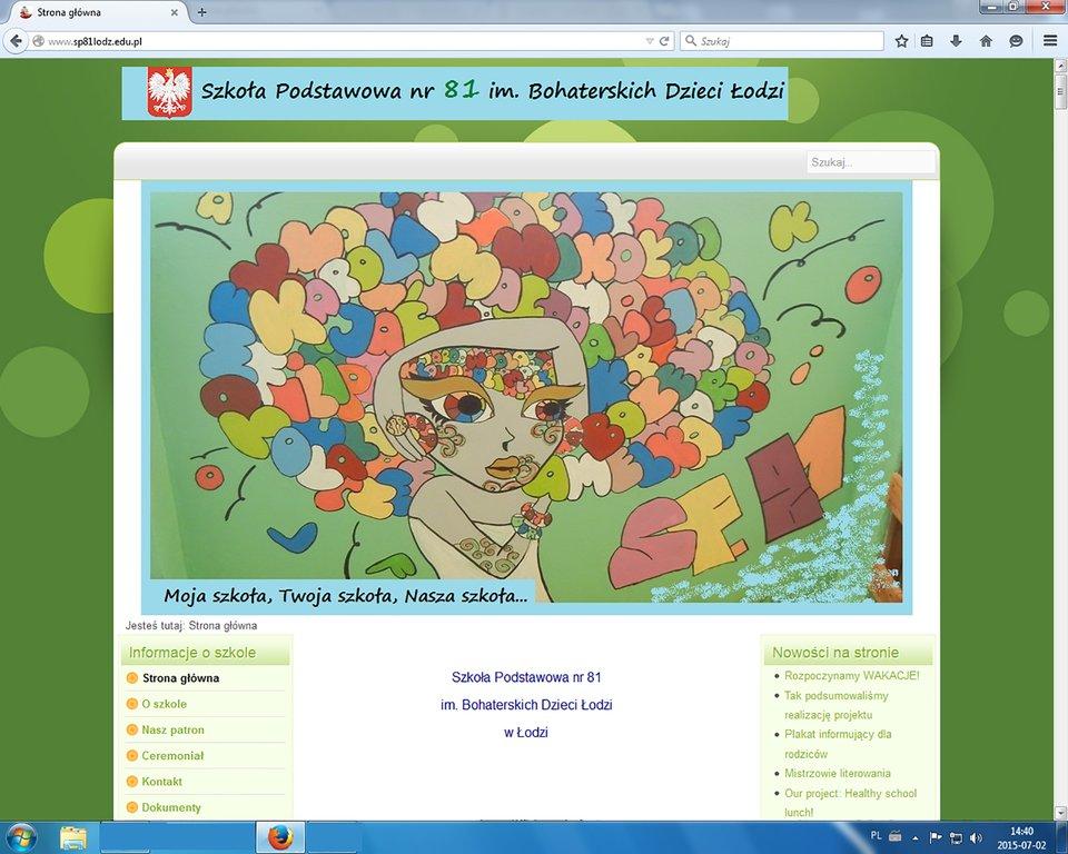 Zrzut okna przeglądarki MozillaFirefox