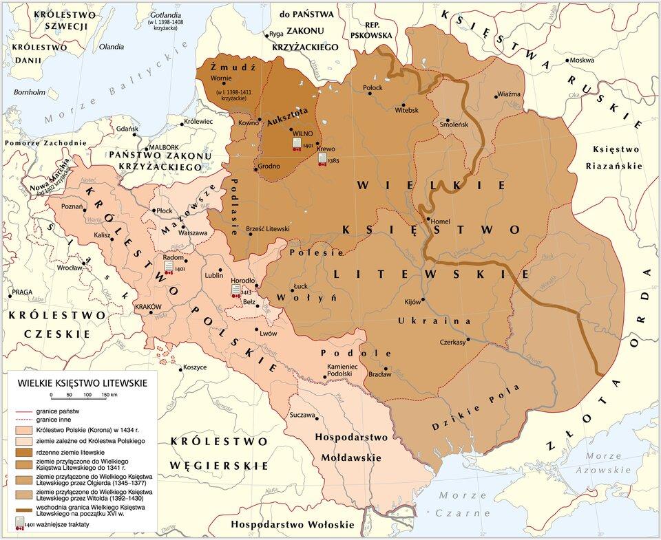 Wielkie Księstwo Litewskie Źródło: Krystian Chariza izespół, Wielkie Księstwo Litewskie, licencja: CC BY 3.0.