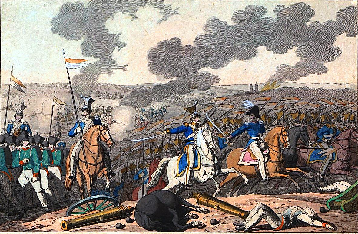 Bitwa pod Iganiami Bitwa pod Iganiami (10 IV 1831 r.) Źródło: Georg Benedikt Wunder, Bitwa pod Iganiami, domena publiczna.