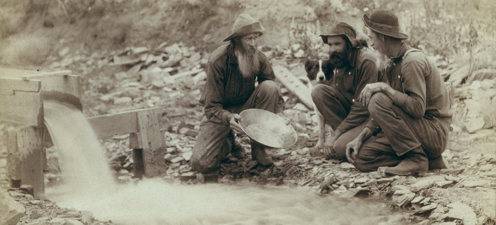 Amerykańscy poszukiwacze złota Amerykańscy poszukiwacze złota Źródło: domena publiczna.