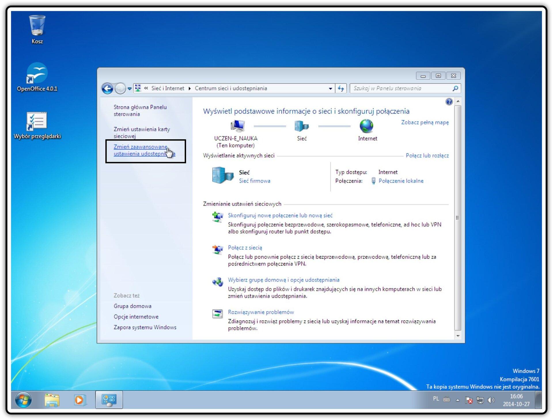 Ilustracja przedstawiająca: Krok 4 konfigurowania ustawień udostępniania wsystemie Windows