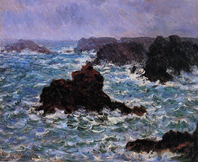 Belle-Île, Deszcz Źródło: Claude Monet, Belle-Île, Deszcz, 1886.