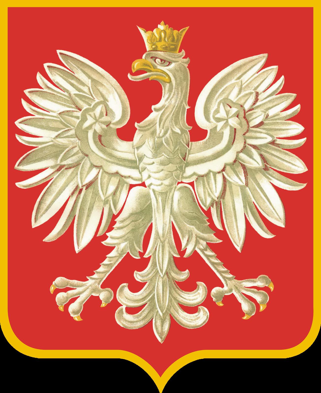 Godło II RP obowiązujące od 1928 r. Źródło: Godło II RP obowiązujące od 1928 r., domena publiczna.