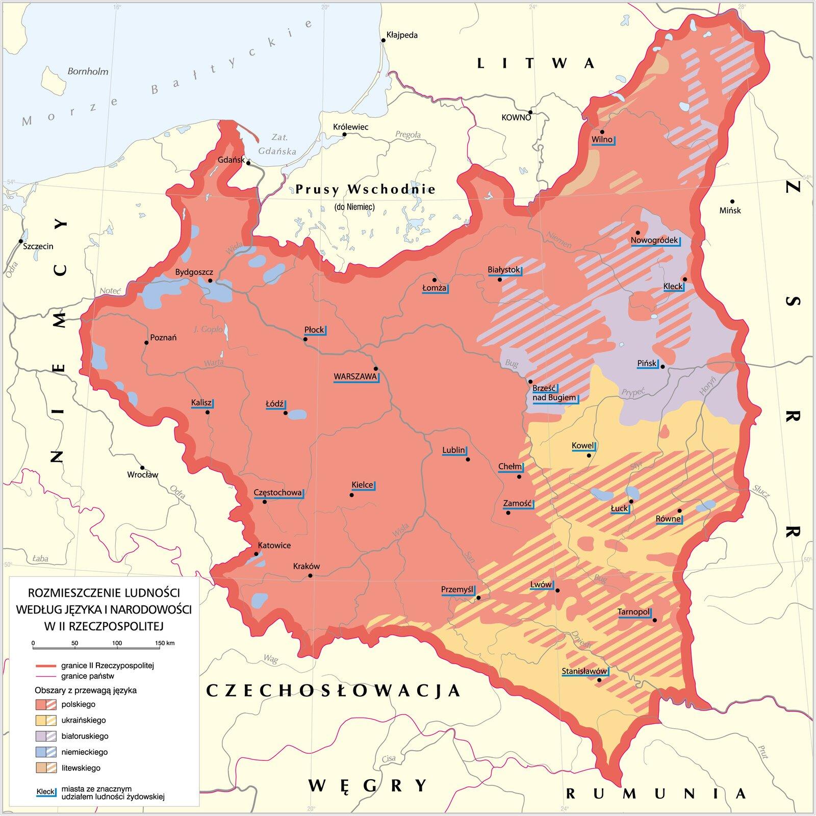 Struktura narodowościowa II Rzeczypospolitej Struktura narodowościowa II Rzeczypospolitej Źródło: Krystian Chariza izespół, licencja: CC BY 3.0.