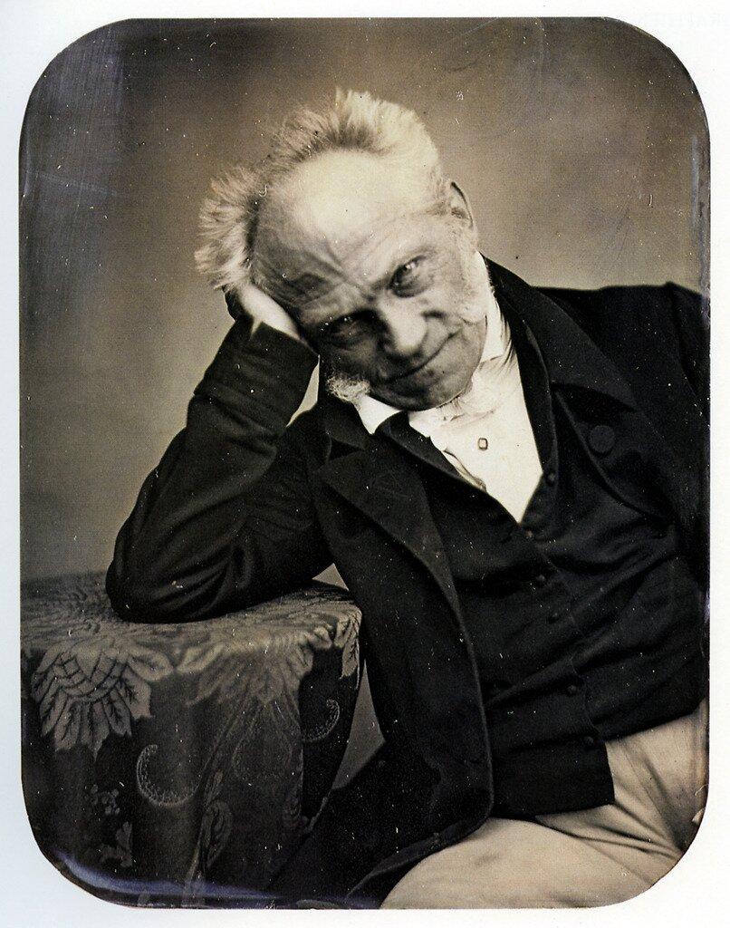 Portret Arthura Schopenhauera Portret Arthura Schopenhauera Źródło: Jacob Seib, 1852, dagerotyp, domena publiczna.