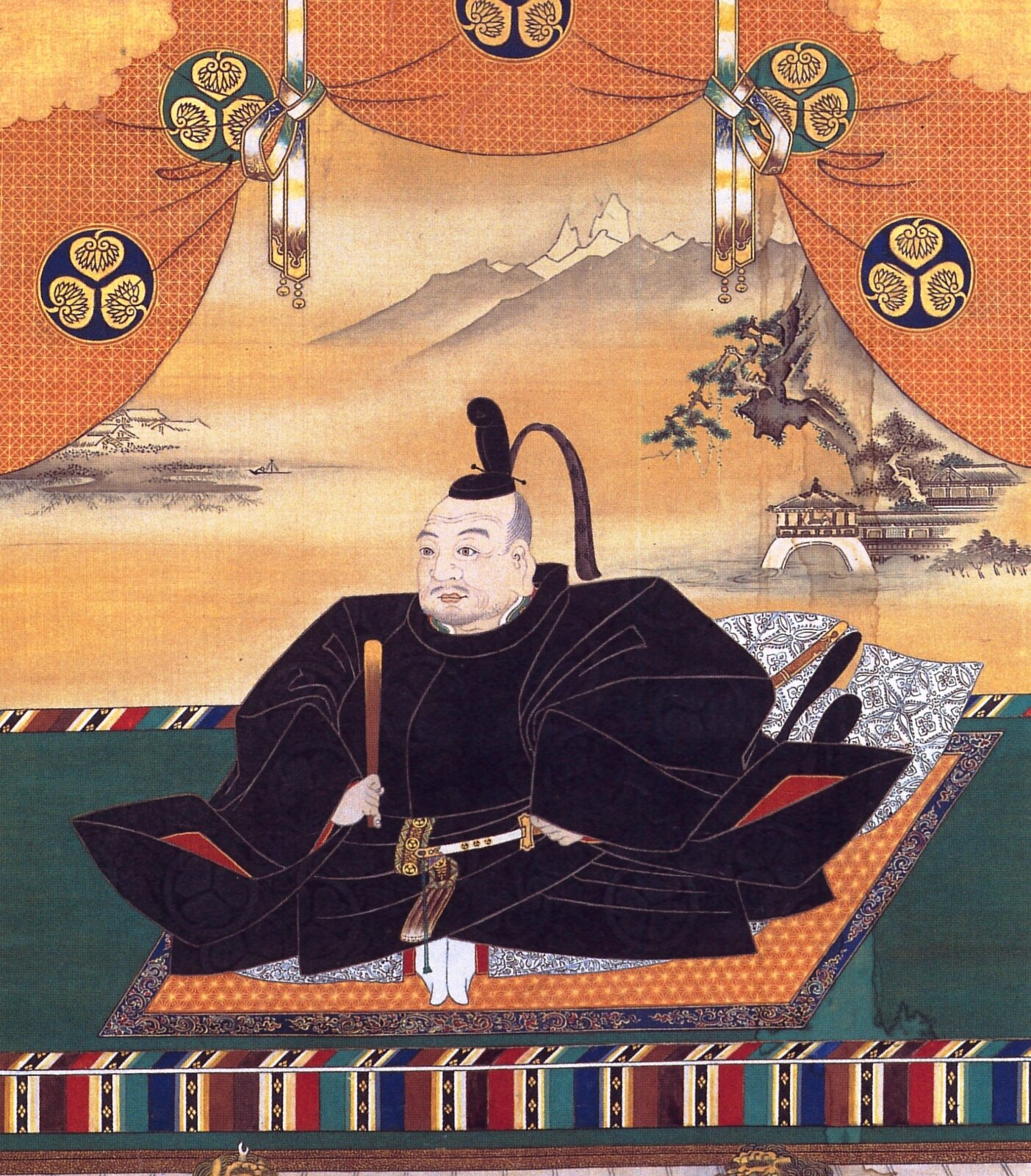 Szogun Tokugawa Iejsu Źródło: Kanō Tan'yū, Szogun Tokugawa Iejsu, Osaka Castle main tower, domena publiczna.