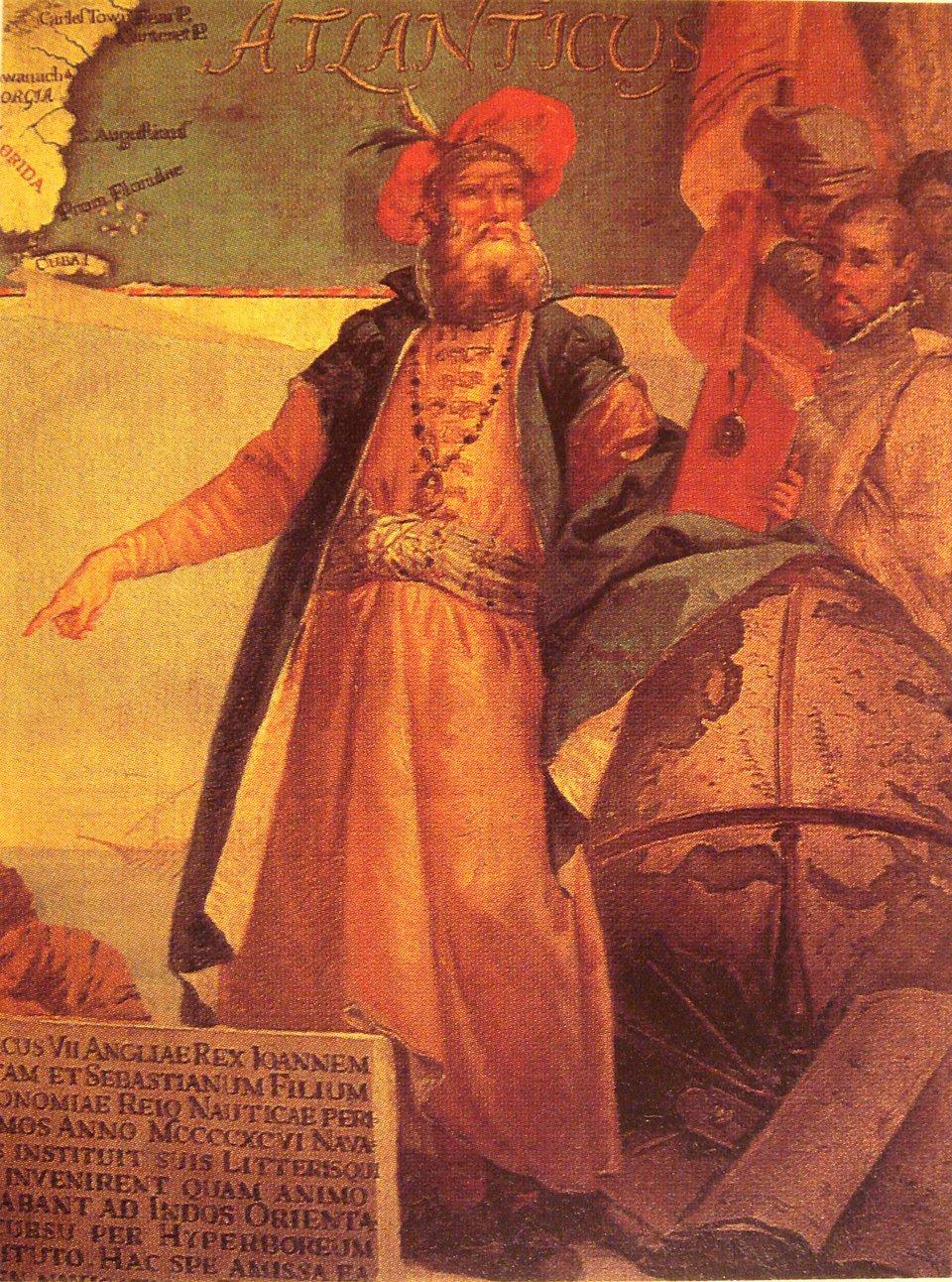 John Cabot Źródło: Giustino Menescardi, John Cabot, 1762, domena publiczna.