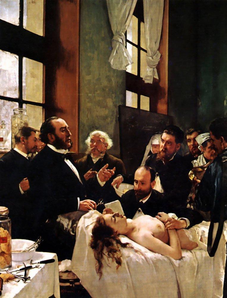 Operacja Źródło: Henri Gervex, Operacja, II poł. XIX w., domena publiczna.