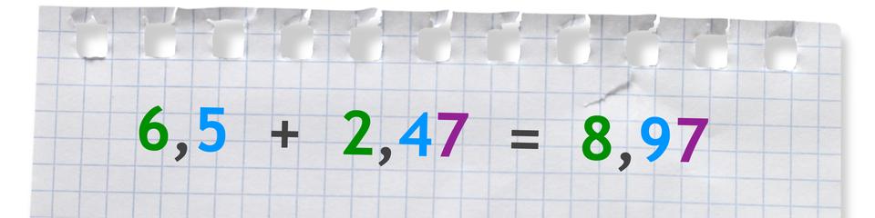 Przykład: 6,5 +2,47 =8,97.