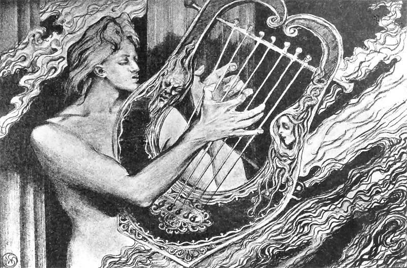Apollo na Olimpie Źródło: Stanisław Wyspiański, Apollo na Olimpie, ok. 1897, rysunek ołówkiem, domena publiczna.