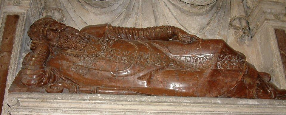NagrobekAdama Konarskiego (1526-1574) dłuta Hieronima Canavasiego wkatedrze wPoznaniu. Charakterystyczna poza sansowinowska. NagrobekAdama Konarskiego (1526-1574) dłuta Hieronima Canavasiego wkatedrze wPoznaniu. Charakterystyczna poza sansowinowska. Źródło: Wikimedia Commons, licencja: CC BY-SA 3.0.
