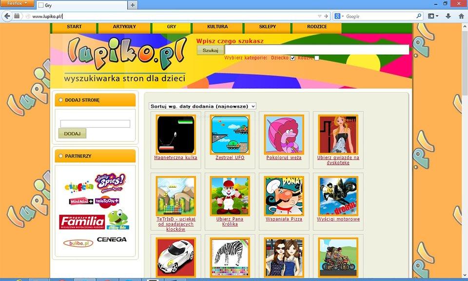 Zrzut okna wyszukiwarki Lupiko