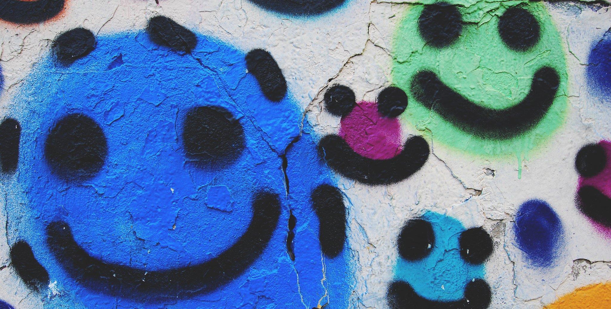 Uśmiechnięte graffiti Uśmiechnięte graffiti Źródło: licencja: CC 0.