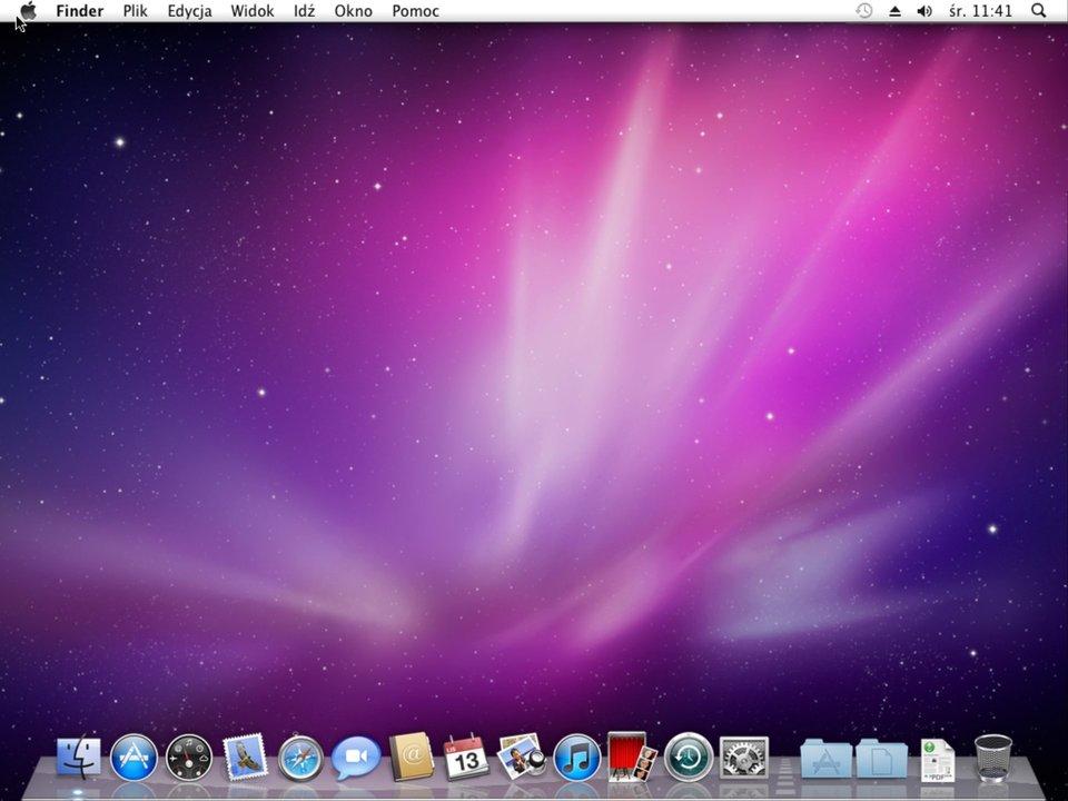 Zrzut biurka systemu Mac OS X