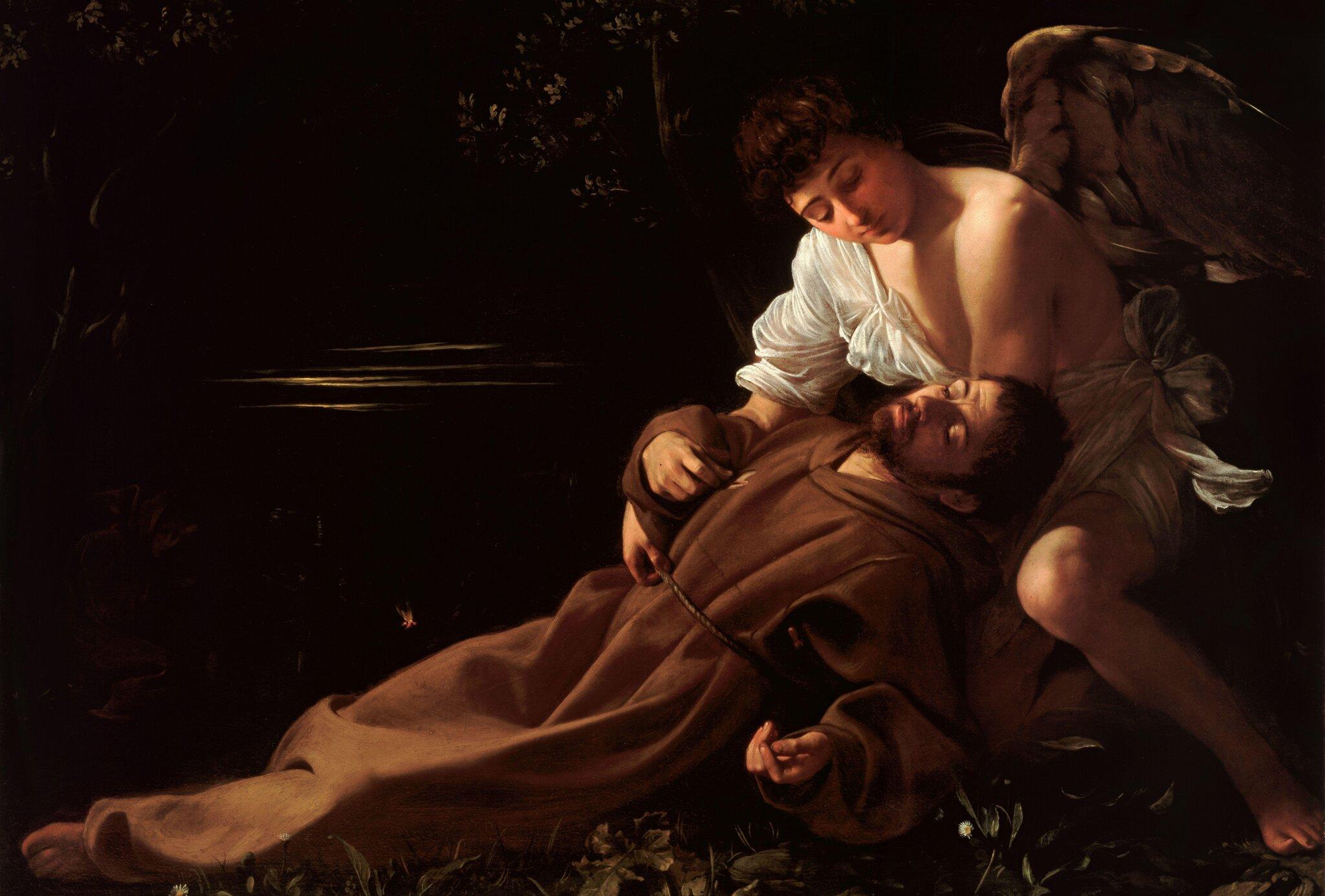 Ekstaza świętego Franciszka Źródło: Caravaggio, Ekstaza świętego Franciszka, 1594, olej na płótnie, Wadsworth Atheneum, USA, domena publiczna.