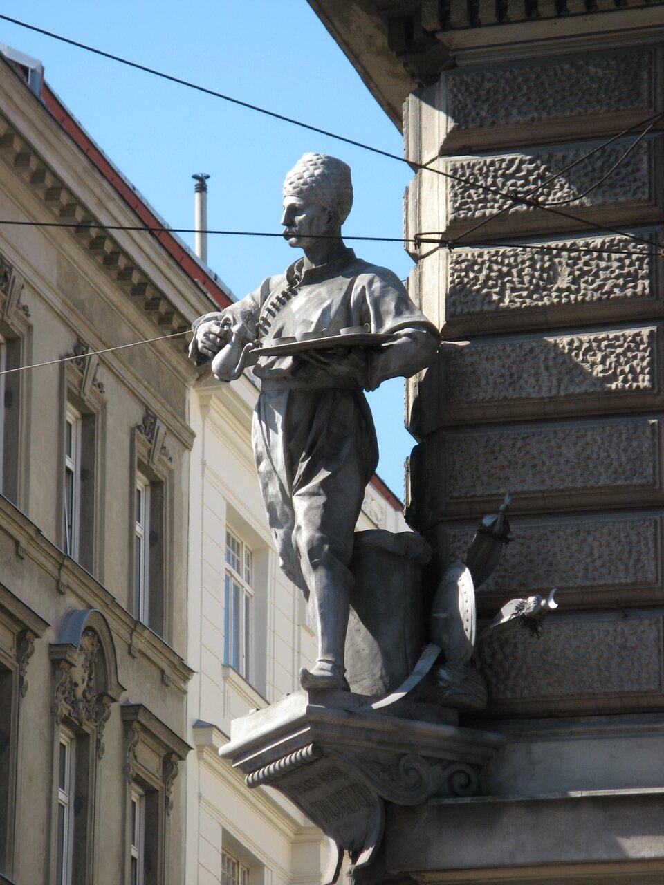 Pomnik Jerzego Kulczyckiego. Pomnik znajduje się wWiedniu.