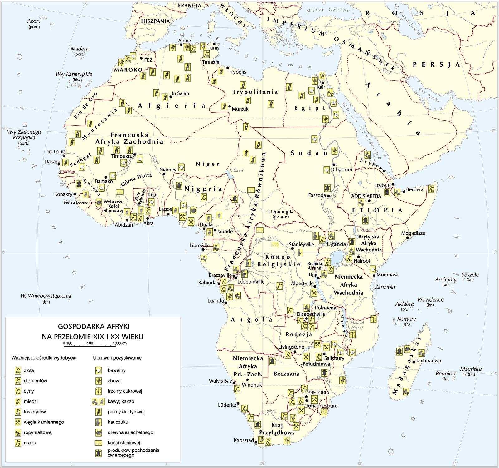 Gospodarka Afryki na przełomie XIX iXX wieku Źródło: Gospodarka Afryki na przełomie XIX iXX wieku, Krystian Chariza izespół.