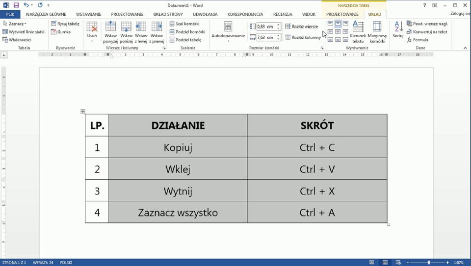 f08189f9a0e Wstawianie tabeli do tekstu i jej formatowanie - Epodreczniki.pl