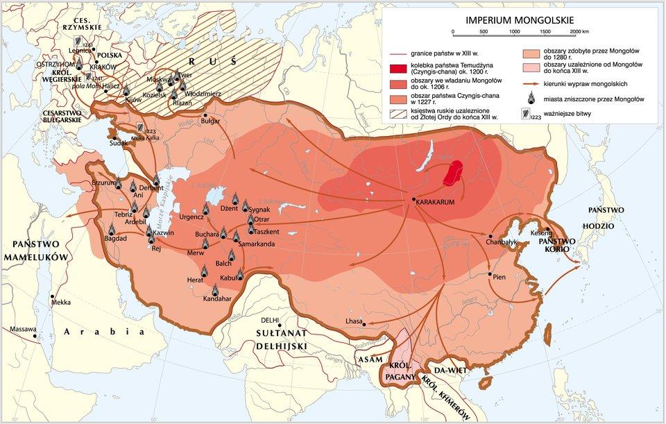 mapaImperium mongolskie