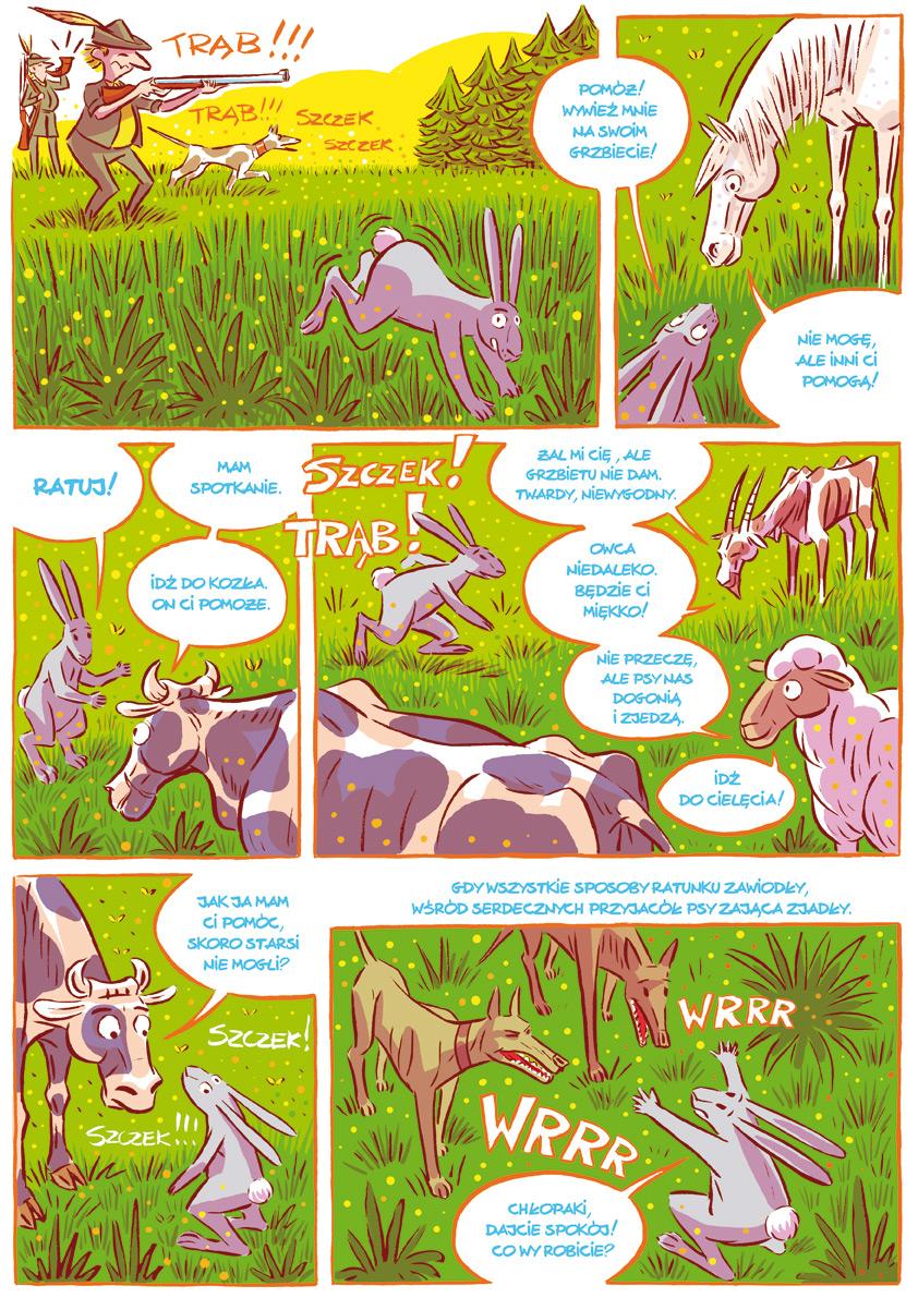Komiks - Krasicki, Przyjaciele2 Źródło: Uniwersytet Wrocławski, licencja: CC BY 3.0.