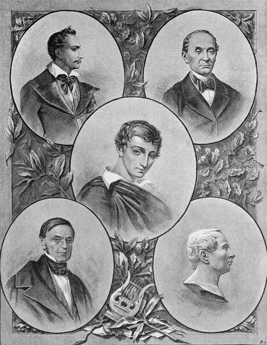 Członkowie Towarzystwa Filomatów iFilaretów Członkowie Towarzystwa Filomatów iFilaretów Źródło: 1889, domena publiczna.