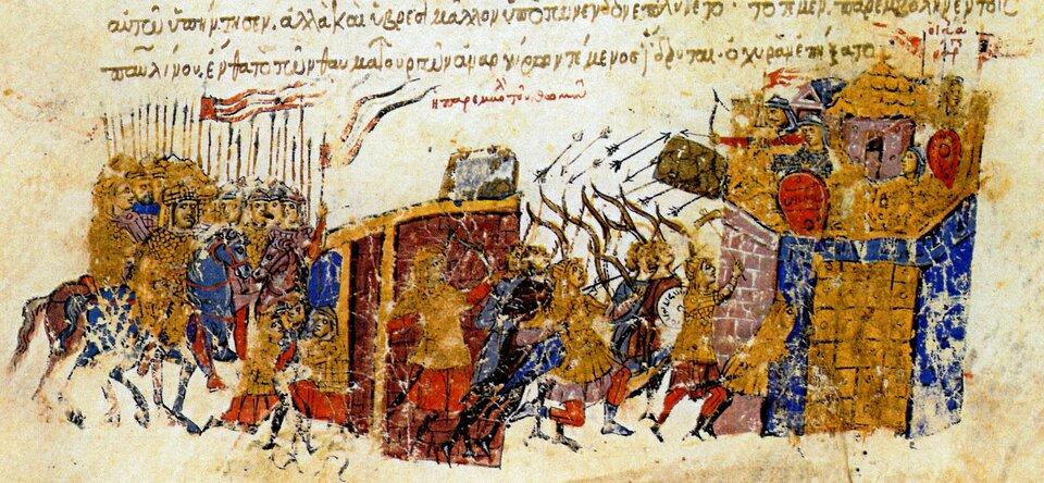 Atak na Konstantynopol w822 roku Źródło: Atak na Konstantynopol w822 roku.