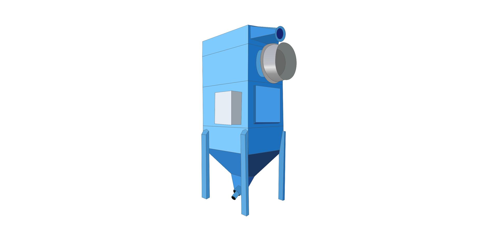 Ilustracja przedstawia urządzenie odpylajace.