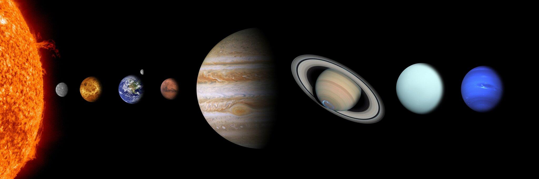 układ słoneczny Źródło: licencja: CC 0.