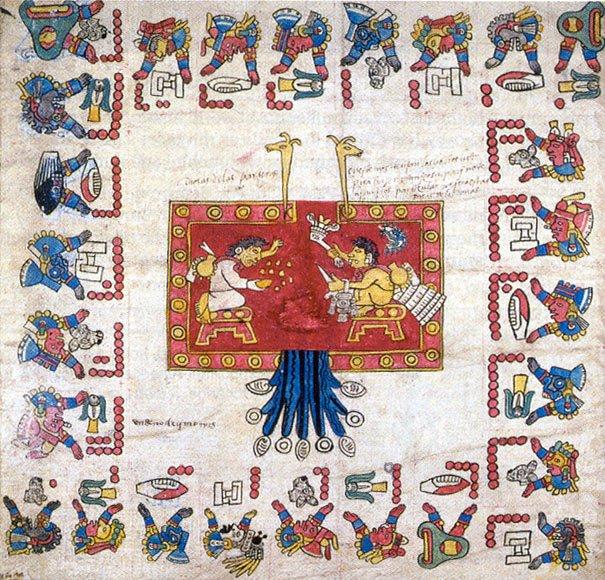 na zdjęciu przedstawione jest pismo Azteków