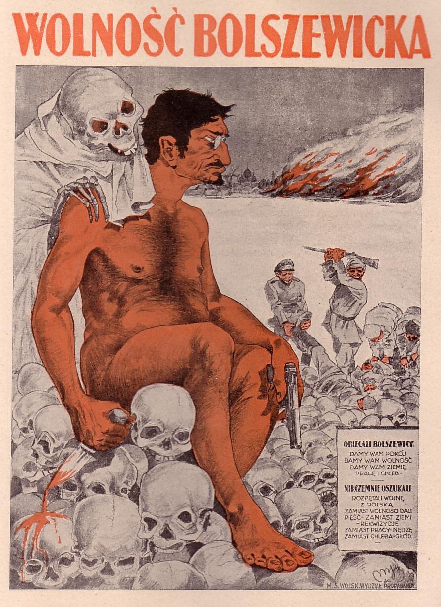 Polski plakat propagandowy Źródło: Polski plakat propagandowy, domena publiczna.