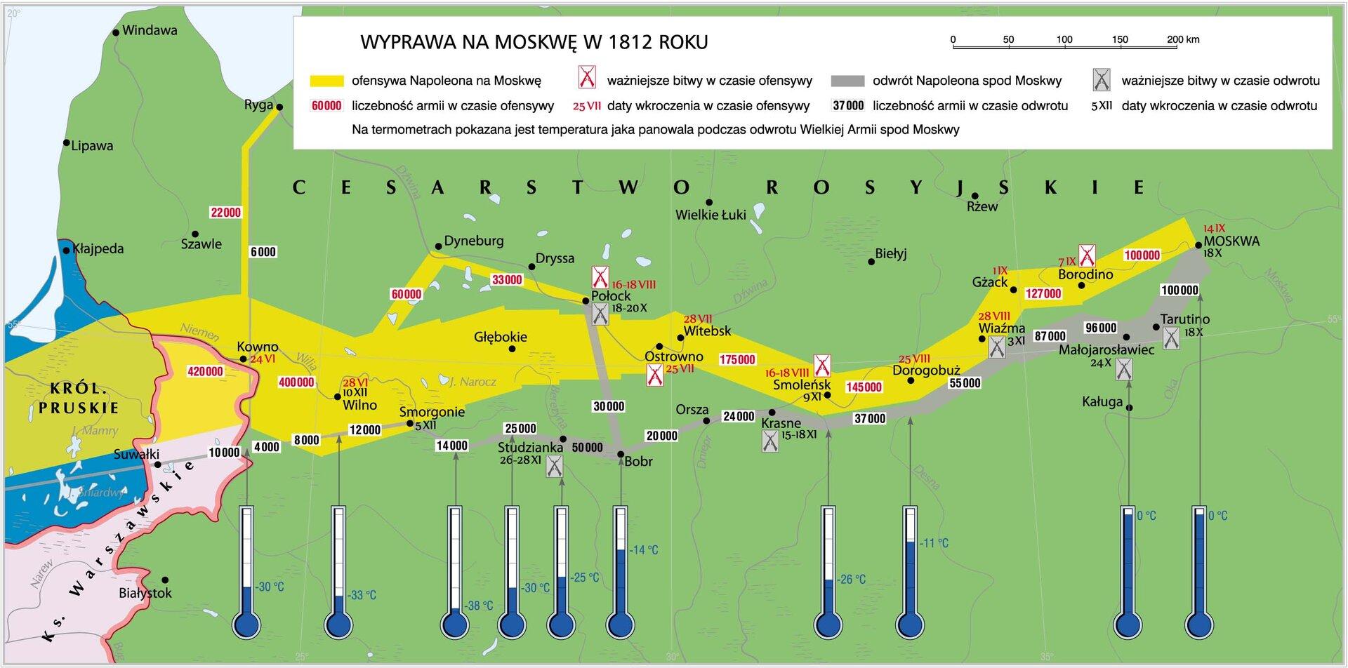 mapaWyprawa na Moskwę