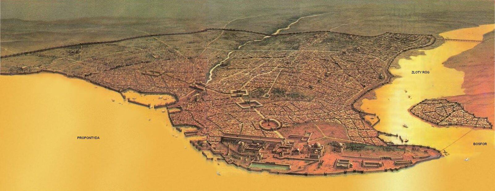 Konstantynopol, stolica Cesarstwa Źródło: Konstantynopol, stolica Cesarstwa, licencja: CC 0.